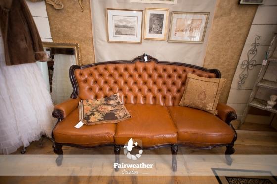 Antique Cognac Sofa
