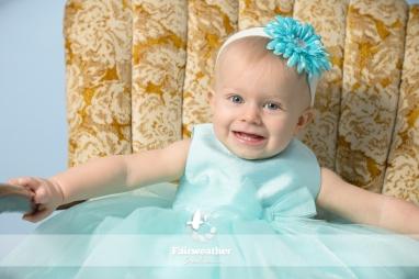 Cute baby girl blue dress