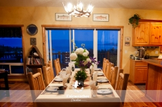 Interior Photography - Dining Room overlooking Flathead Lake