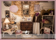 Prairie Style Vignette with Pops of Purple