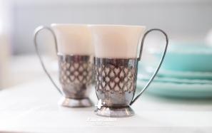 Silver Heart Mugs