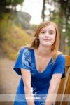 Senior Girl Portrait on Chair
