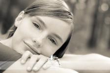 Pretty Senior Girl Portrait Black and White