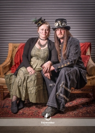 This couple rocked the Steampunk!
