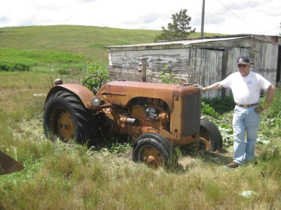 Tractor when found in original setting